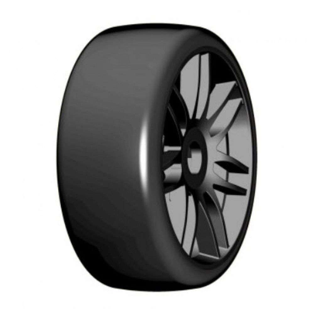 NEW GRP Mounted Belted Tires Yellow Slick 17mm S7 1//8 Buggy