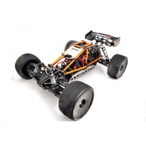 "Hyper Cage Truggy Nitro RTR (Orange) w/  Engine H3032T & Glow Plug P5 Turbo, 14kg Servos, 2.4G (""HB-CT-C30RG"")"