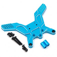 Yeah Racing (#TATT-007BU) Aluminum Rear Damper Stay For Tamiya TT02B