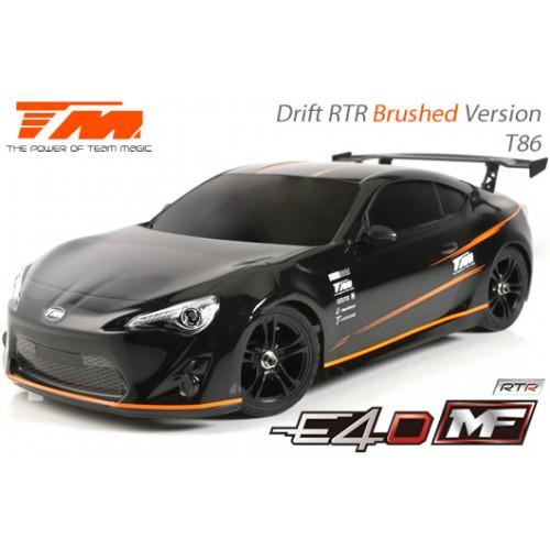 TeamMagic - E4D MF Drift Car Silver Ver. RTR-86