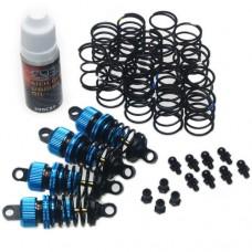Yeah Racing Shock-Gear 55mm Damper Set for 1/10 RC Touring Car Blue #DSG-0055BU