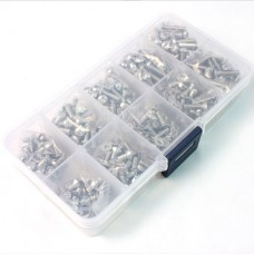 (#SSS-400) Stainless Steel Screw Assorted Set (400pcs) with FREE Mini box