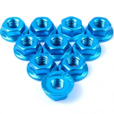 (#LN-M4S-LB) 4mm Aluminium Serrated Lock Nut 10pcs (LB)