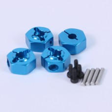(#WA-017BU) Aluminum 5.5mm Wheel Adapter Set (BU) for All Tamiya 1/10 Car